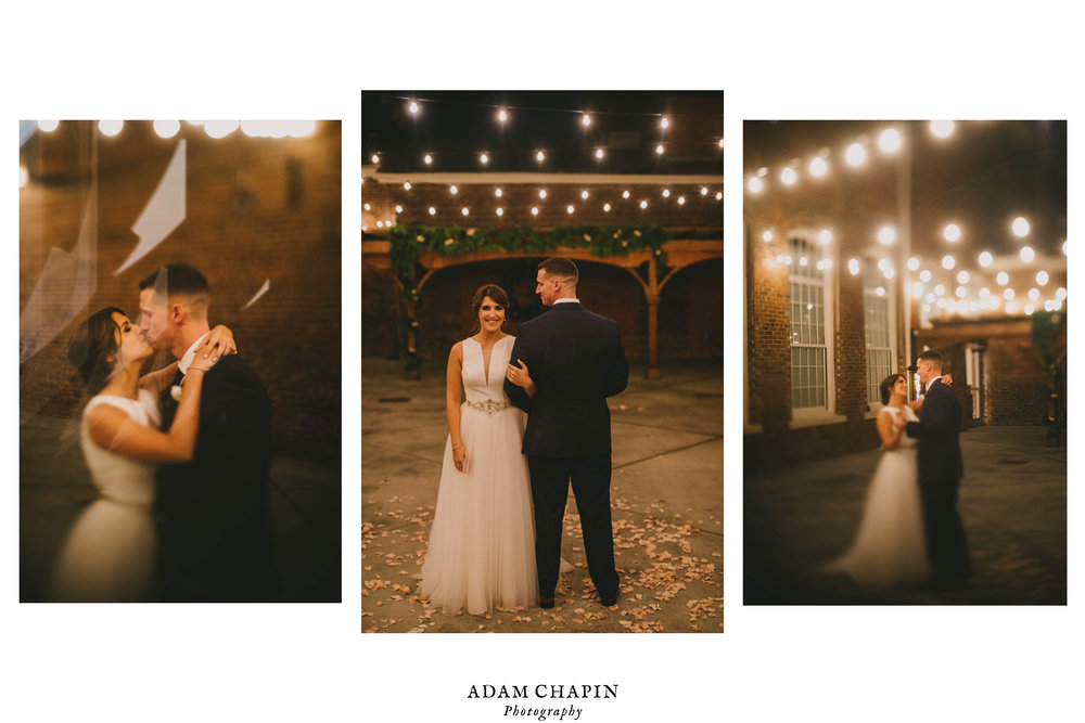 bride and groom dancing at The Cloth Mill