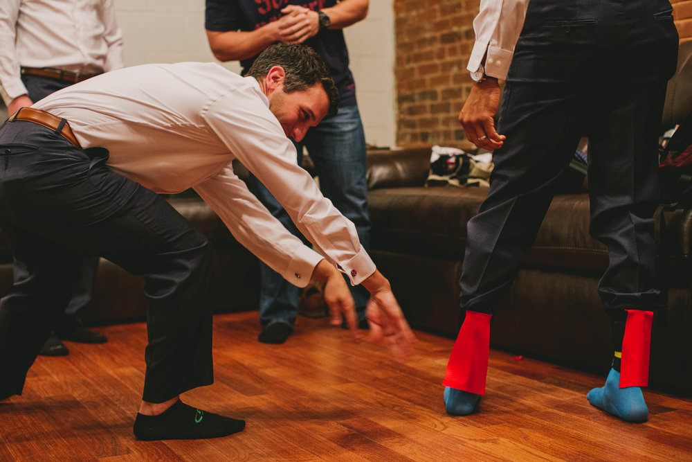 groomsmen superhero socks