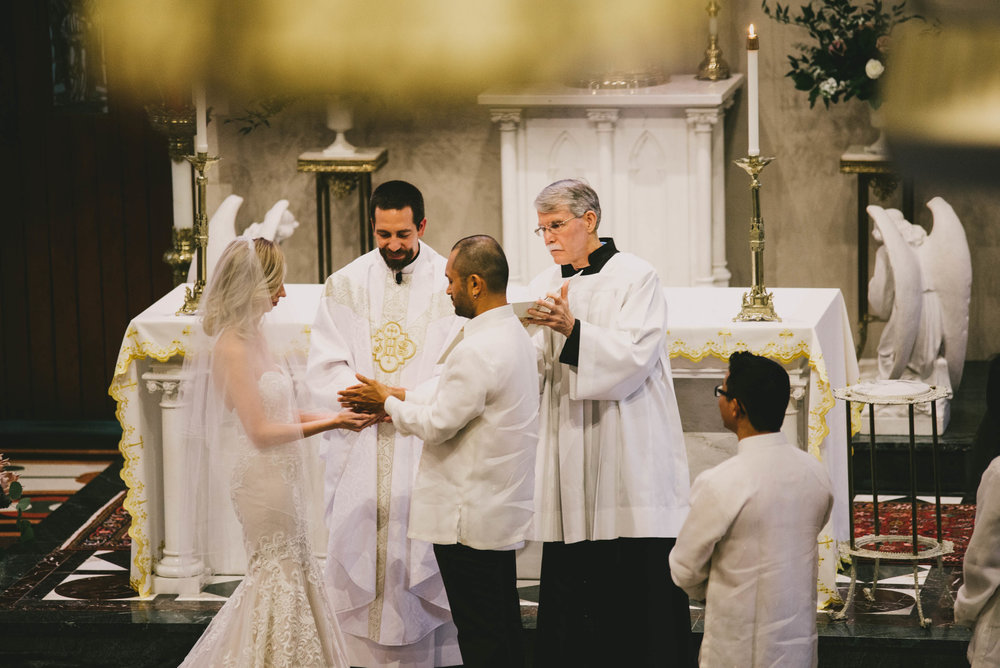 filipino wedding ceremony tradition at Sacred Heart Cathedral
