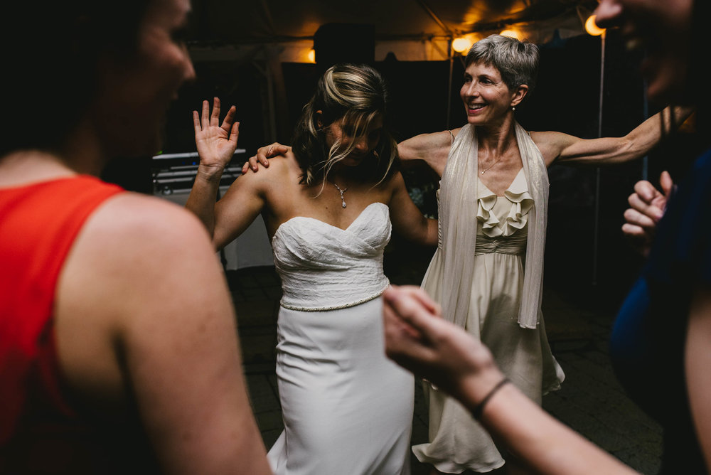 bride dancing with her mom during reception at her Jiddi Space and Courtyard Wedding at Sitti Restaurant