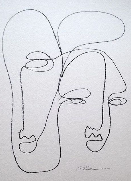 Picasso Line Drawing Face : Mood mckenzie — a n p h o r