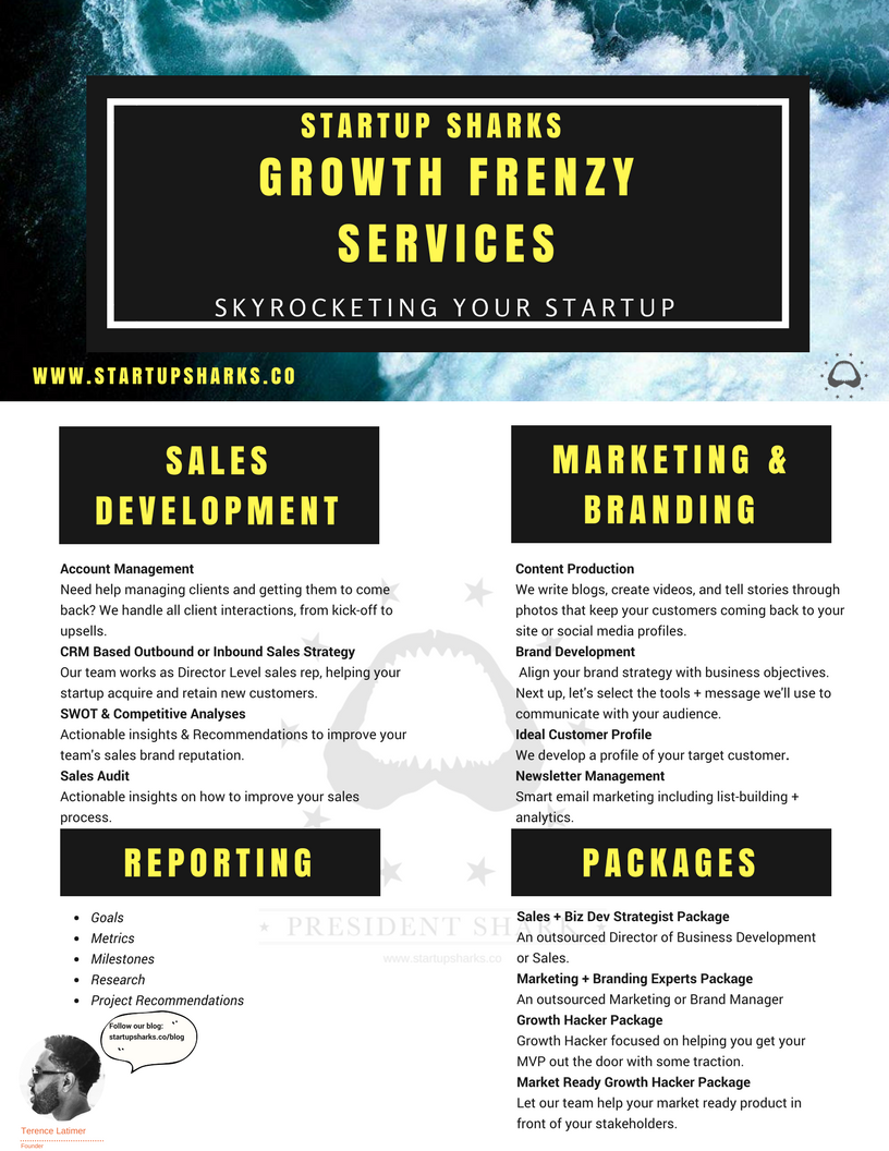 Are you ready for a growth frenzy? - Our team is here to help launch your startup to new heights: review some of the different ways we can help.In the meantime, check out our 5 Easy Steps to Develop Your Startup's Sales Strategy in order to learn some of our tips and tricks to help accelerate growth.