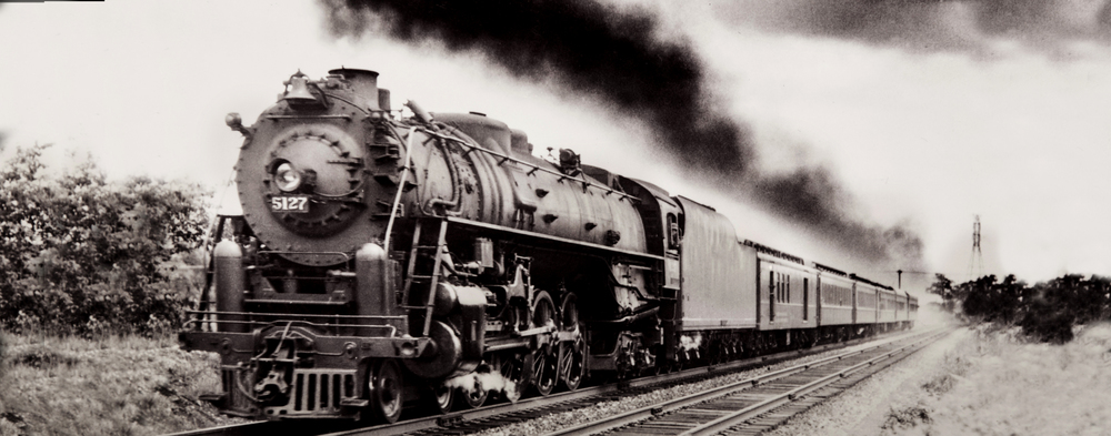 Old Train photo restored
