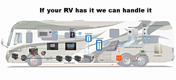 No need to worry! We stay up to date on RV technology so we can take care of any and all of your RV's service requirements.