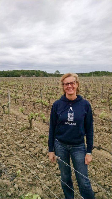 Laura Semeria, of Terra Laura/Domaine de Montcy. What a fantastic treat being able to walk through her vineyards and see what amazing things she has accomplished. As you can see from the weather in the background it was a somewhat of a dreary day, especially considering the circumstances. But her enthusiasm and passion made all of that go away. Yet another wonderful organic grower in which you can feel the spirit throughout the vineyard.