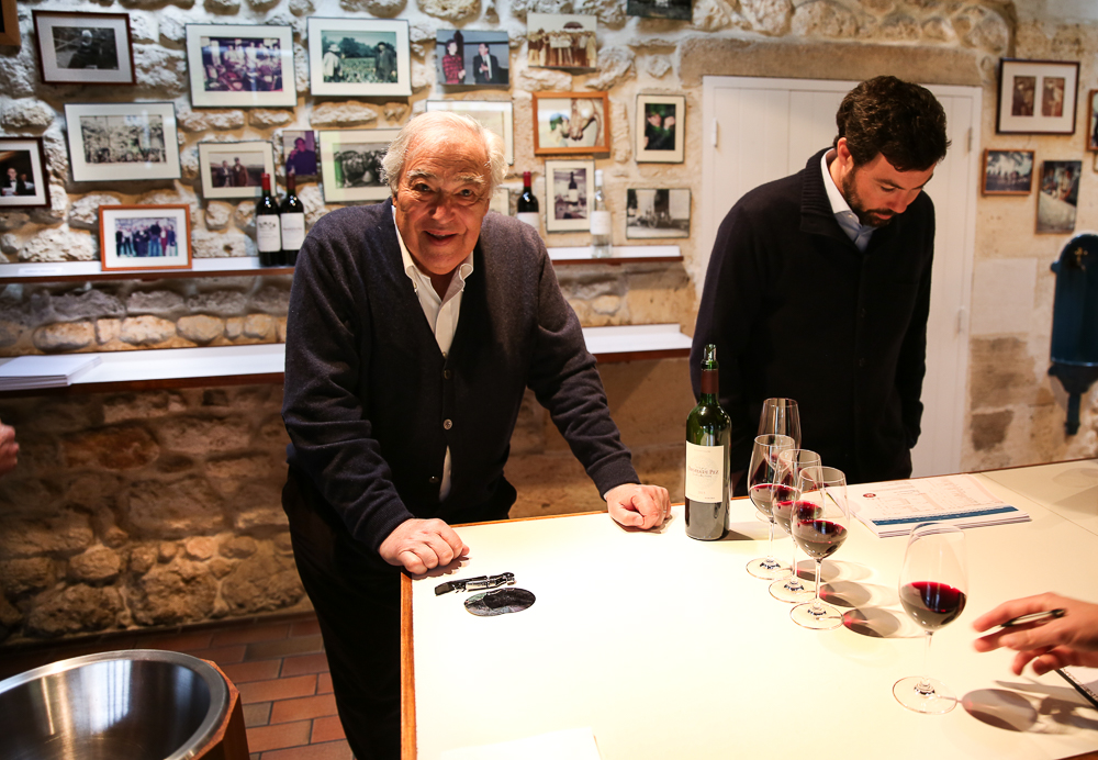 Tasting with Jean-Michel Cazes at Lynch-Bages