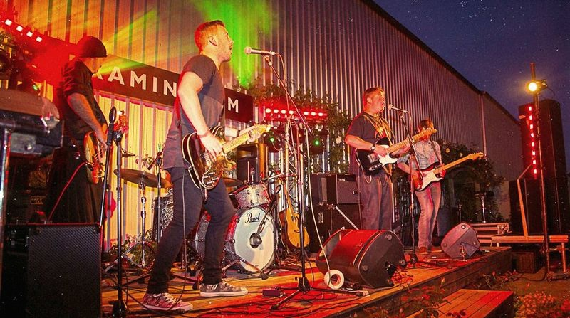 Ribbonwood winemaker Andrew Hedley rocks out at the winery's annual punk rock festival