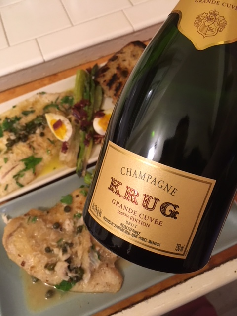 Krug Grand Cuvee 166 fish