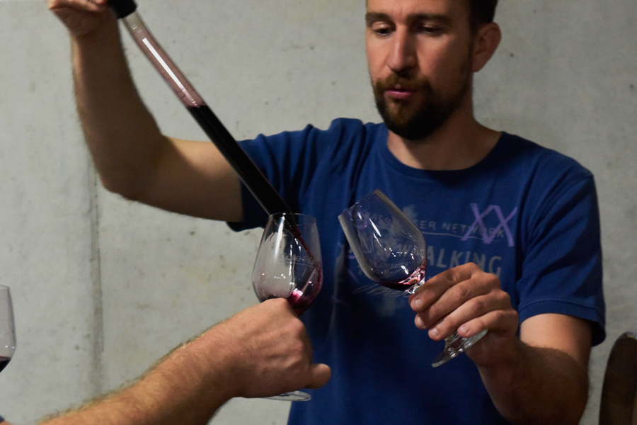 Barrel sampling with Kévin Garon