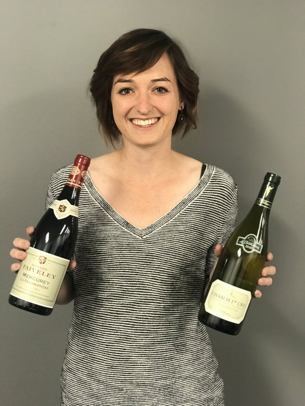 Our Wine Club Gal, Heather Gowen, with November Club Français wines