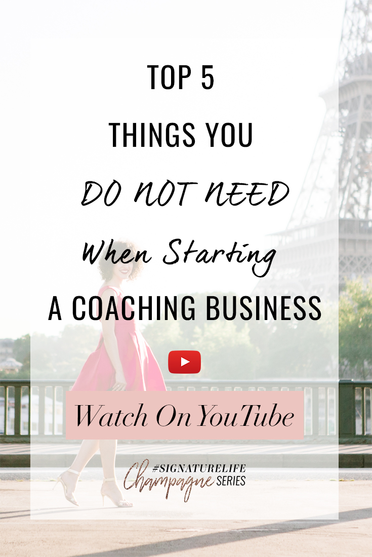Tune in as Daria shares the 5 things you actually DON'T need when you start your coaching bisuness!
