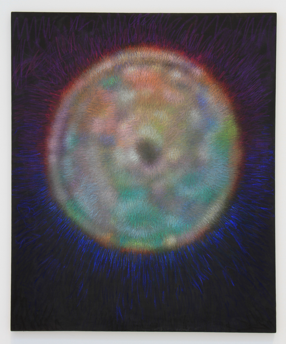 "Mother Orb, pastel on oil on linen 2016 72""X60"""