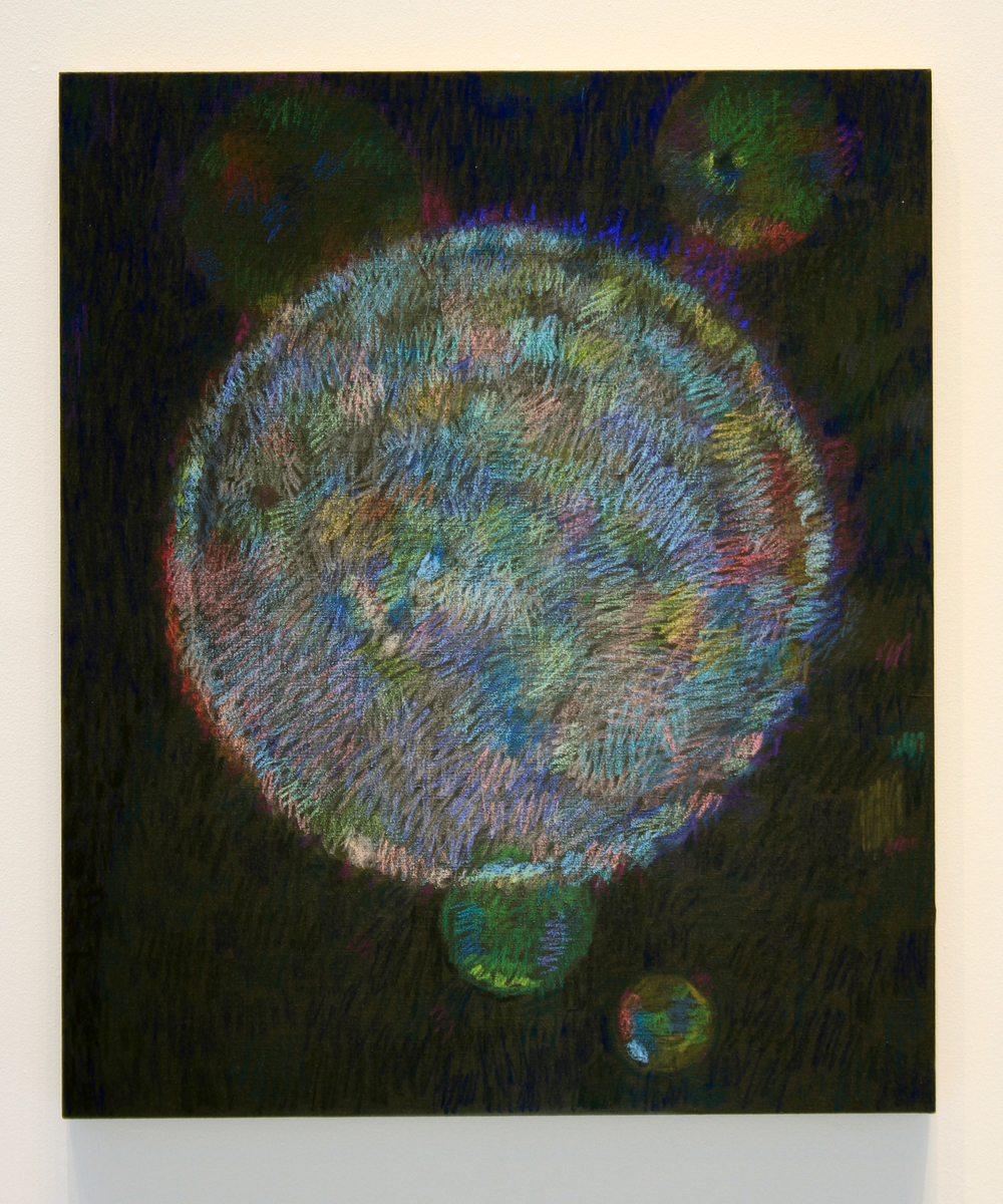 "Spring Orb, pastel on linen 2016 36""X30"""