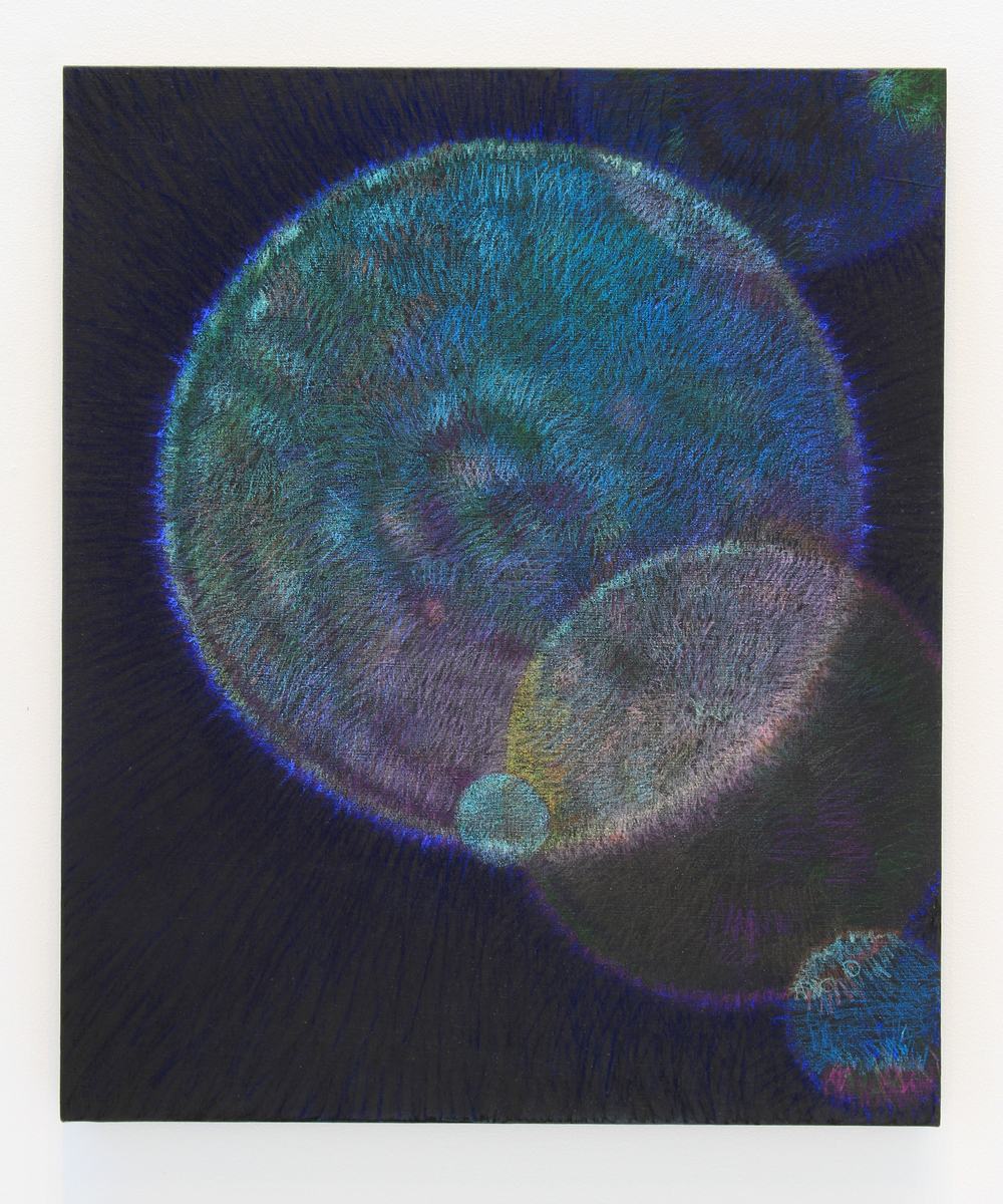 "Winter Orb, pastel on linen 2016 36""X30"""