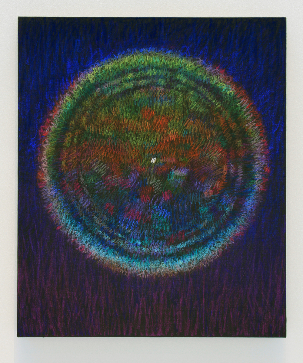 "Harvest Orb, pastel on linen 2016 36""X30"""
