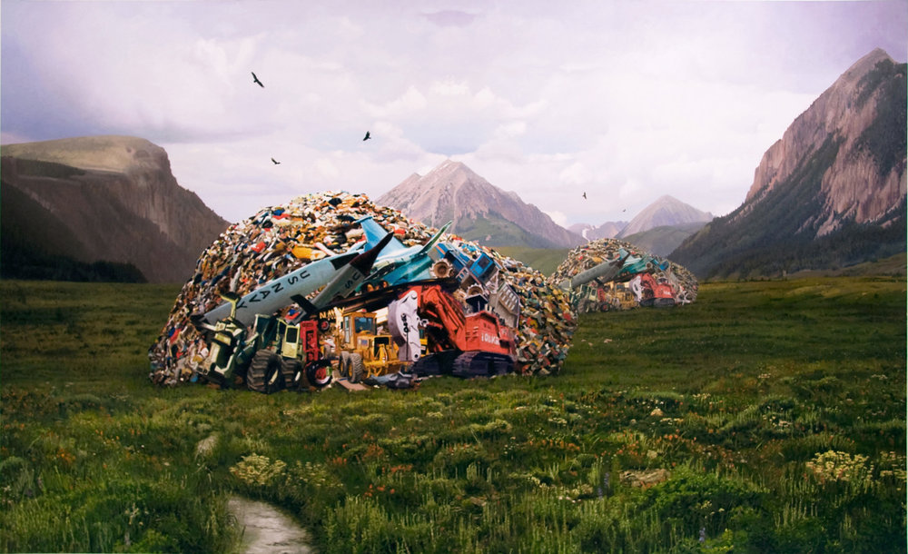"The Final Record of the Last Moment of History, oil on linen, 72""x 120"" 2008"