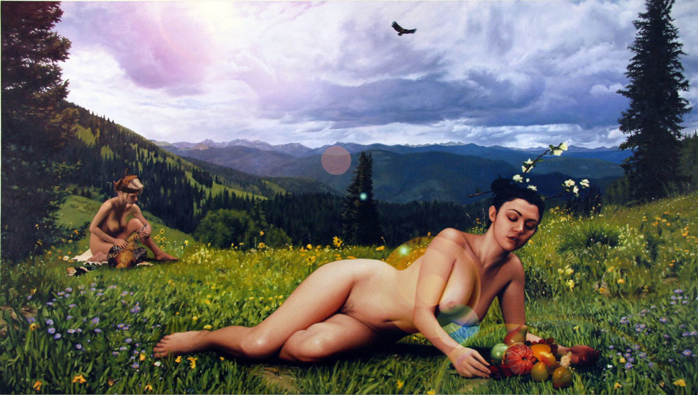 """And They Returned to the Green Wilderness to Live of the Land, oil on linen 40""""X 72"""" 2009"""
