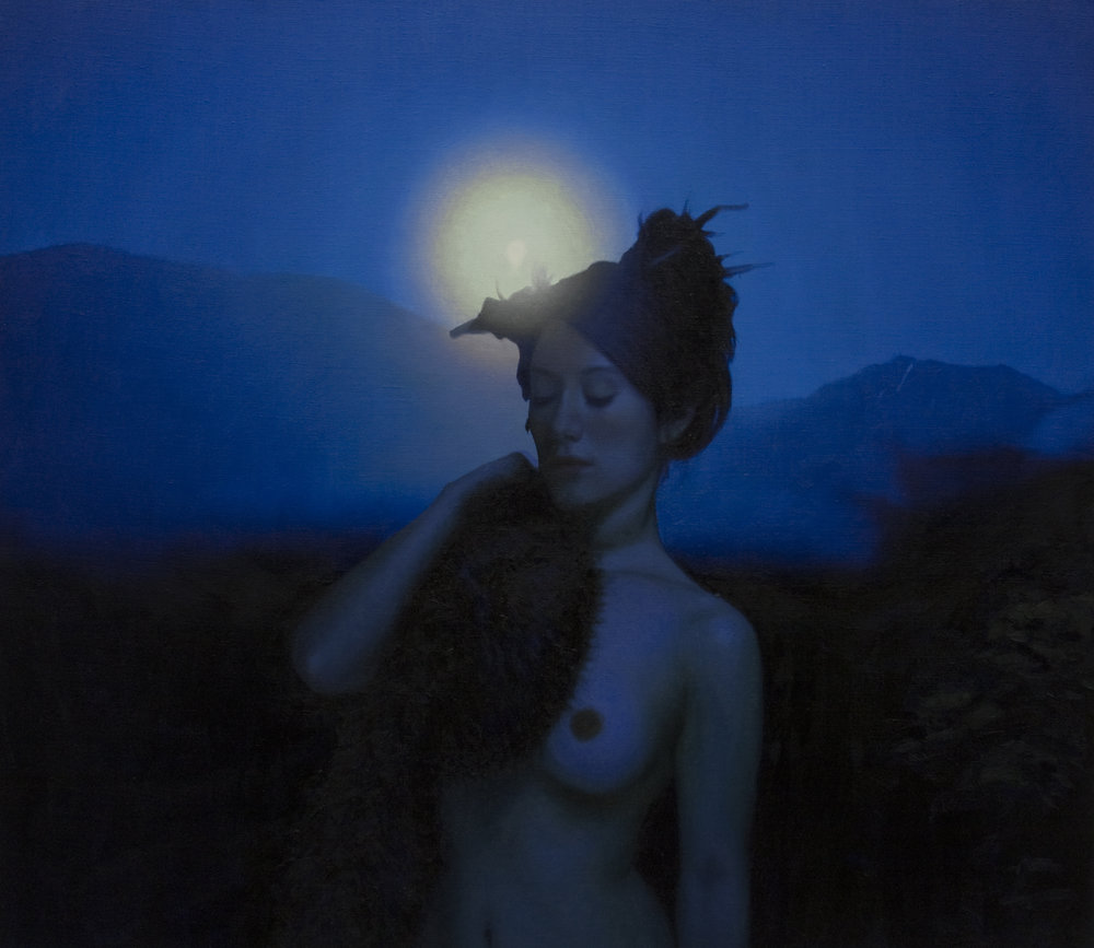 "Nocturne, oil on linen, 40""X 44"" 2011"