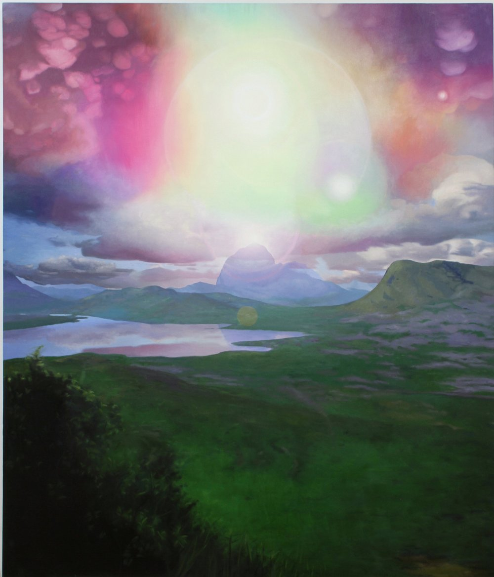 "Sky Phenomenon, oil on canvas, 82""X 60"" 2005-12"