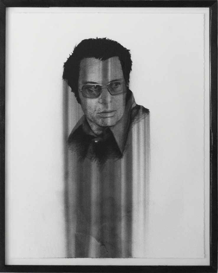 "Jim Jones, charcoal on paper, 28""X22"" 2013"