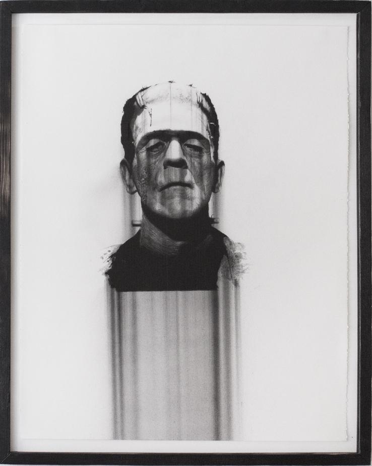 """Boris Karloff, charcoal on paper, 28""""X22"""" 2013"""