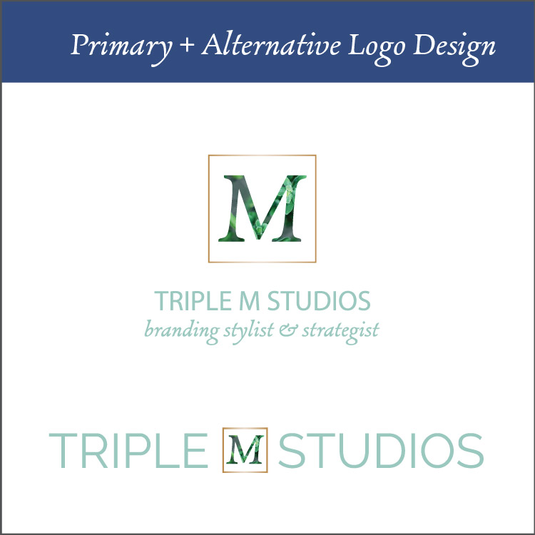 Primary + Alternative Logo Design - Logo design is almost never perfect in the first try. For this reason, I give you three totally different logo designs that are in unison with the looks and feels that we established in the mood board and workbooks you filled out. From there, we discuss them and pick a direction to revise and perfect to ensure you come out with a logo that is perfect for you and your business.