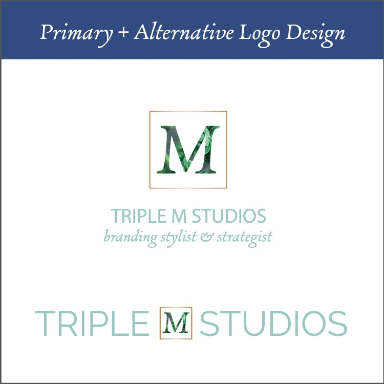 Primary + Alternative Logo Desgin - Logo design is almost never perfect in the first try. For this reason, I give you three totally different logo designs that are in unison with the looks and feels that we established in the mood board and workbooks you filled out. From there, we discuss them and pick a direction to revise and perfect to ensure you come out with a logo that is perfect for you and your business.