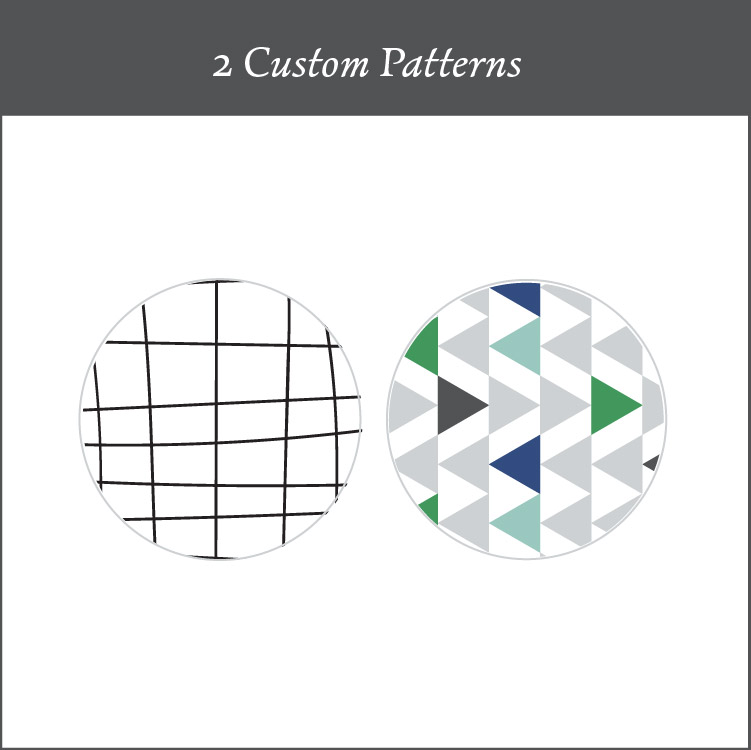 2 Custom Patterns for your Brand - Patterns are a way to really stand out above all the other brands that are out in the sea of businesses. I create 2 custom patterns to flow effortlessly into your business collateral. I give you some ideas of how to use these repeatable patterns.