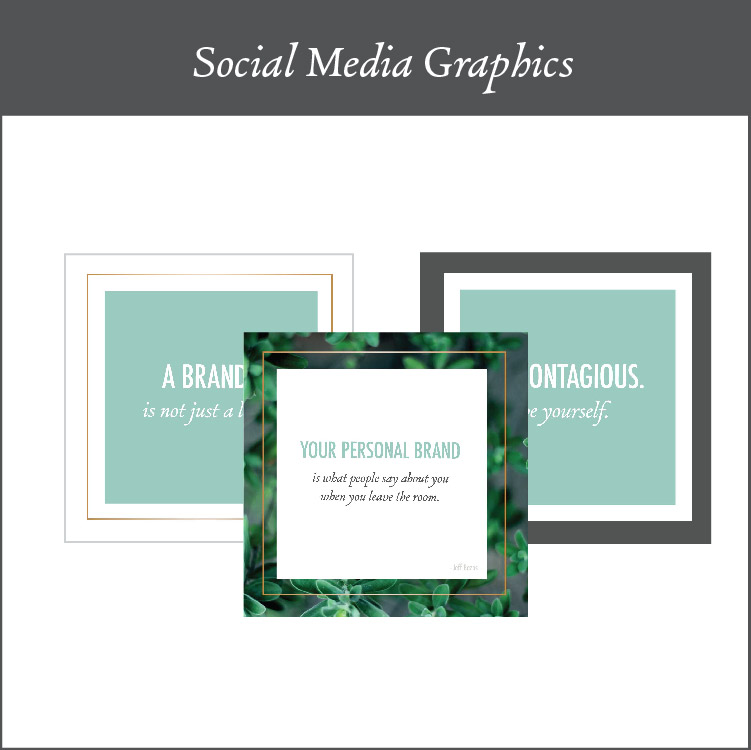 Social Media Graphics - Showing up on Social Media is a wonderful way to market yourself. You need to ensure that you are showing up in a way that matches your brand so that you can build your reputation as a professional, expert and trustworthy brand. I give you 3 different graphic templates so that you can edit them and change them up as you go.