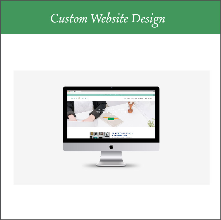 Custom Squarespace Web Design and Build - I create and build a website for you through the platform, Squarespace. The platform has beautiful, clean, modern and streamlined designs that is very user and SEO friendly. You get 5 custom pages, a custom email address, freebie design and set-up (to start growing your email list), mobile and desktop versions of your site, with calendar integration available.