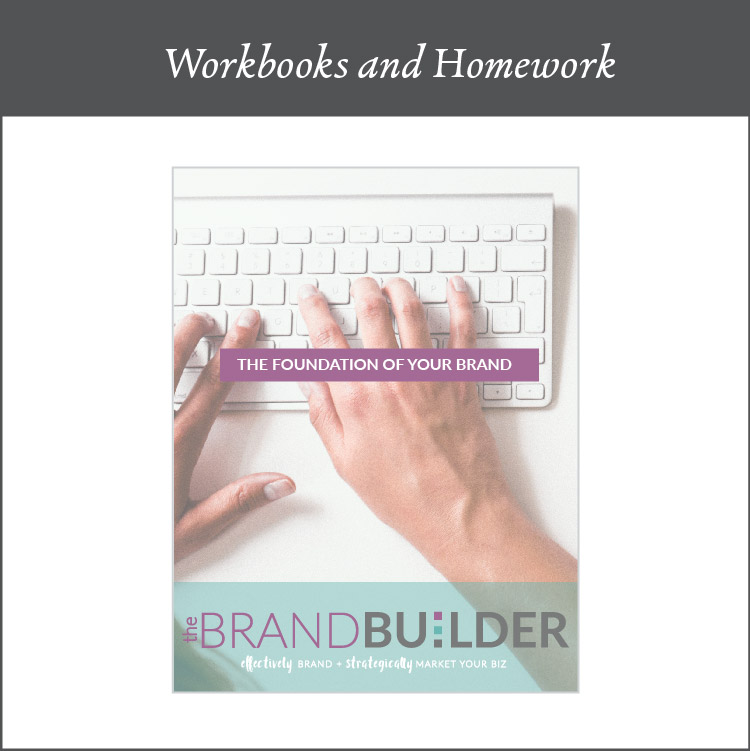 The prepwork - Preparation work is always most important - just like taping off trim when you are painting a room - it is a crucial part in order to come out with a brand both you and your customers will love. I give you several workbooks to work through to get really clear on your passion and purpose behind your business so we can make sure we are branding for exactly who you want to work with.