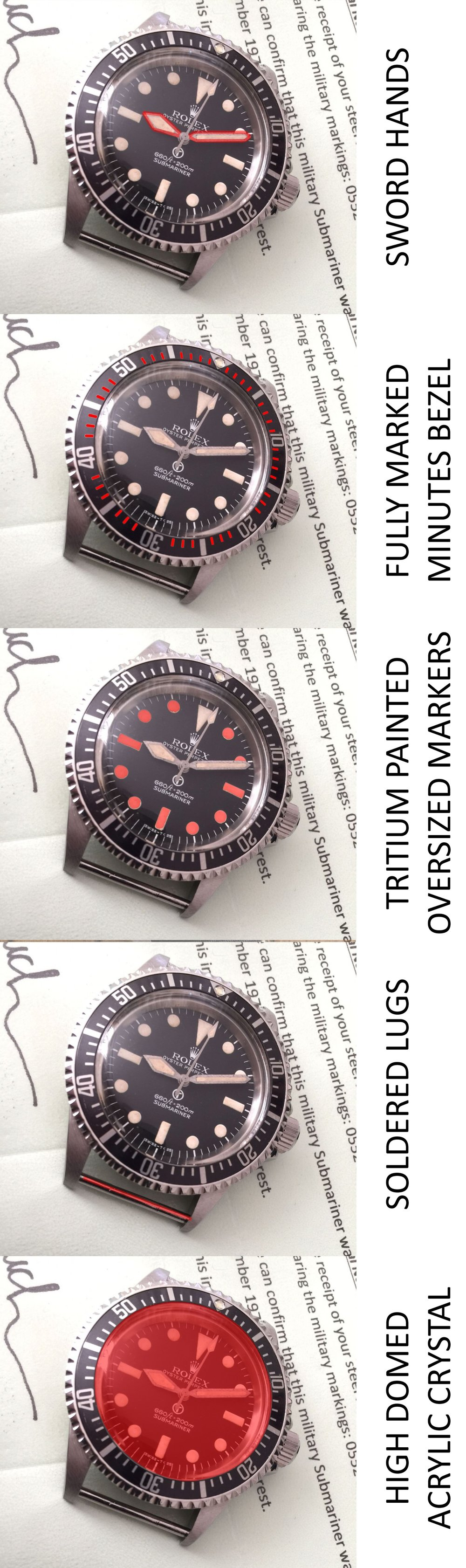 Watchucation 101 Anatomy Of The Rolex Military Submariner Milsub