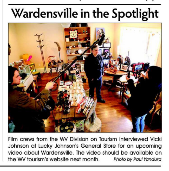 THE COMMISSIONER OF WV TOURISM VISITS WARDENSVILLE TO TALK ABOUT ALL THERE IS TO DO ON MAIN STREET!  IMAGE: MOOREFIELD EXAMINER