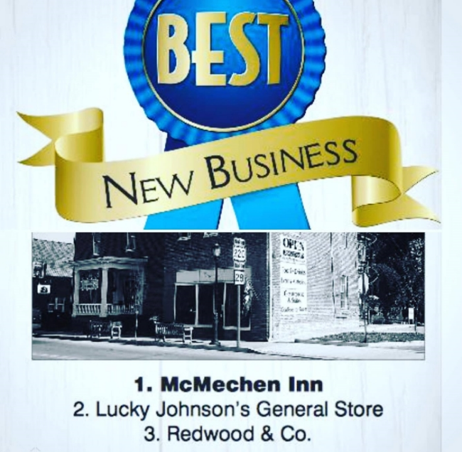 AFTER JUST TWO MONTHS OF BEING OPEN, WE PLACED SECOND AS THE BEST NEW BUSINESS IN HARDY COUNTY! IMAGES: MOOREFIELD EXAMINER