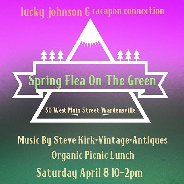 BACK BY POPULAR DEMAND! This Saturday come join us for our second FLEA ON THE GREEN from 10am to 2pm! We'll welcome special guest @stevekirkguitar who's providing dreamy tunes outside. Organic lunch options, antiques, vintage and more! #wardensvillemainstreet #50bestmainstreet @cacaponconnection