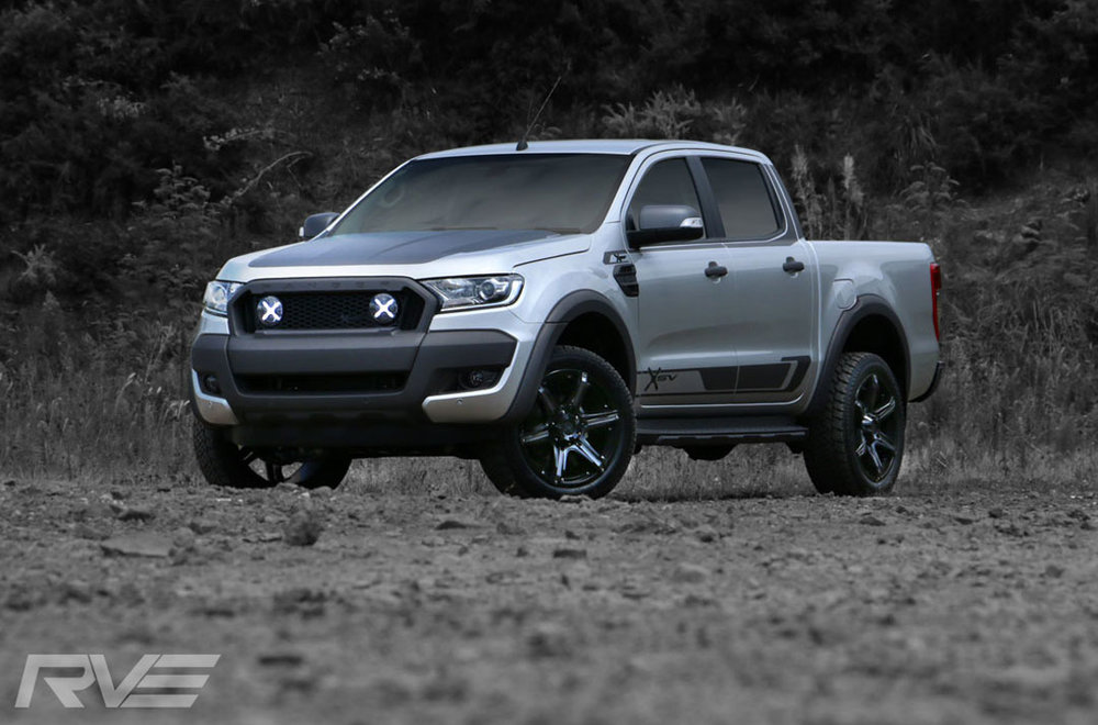 Ford Ranger XSV Stage 2 in 'Aluminium Metallic'.