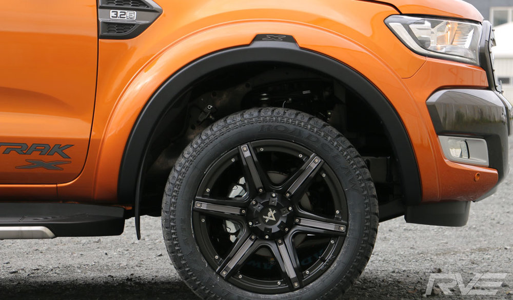Ford Ranger Wildtrak X in pride orange.
