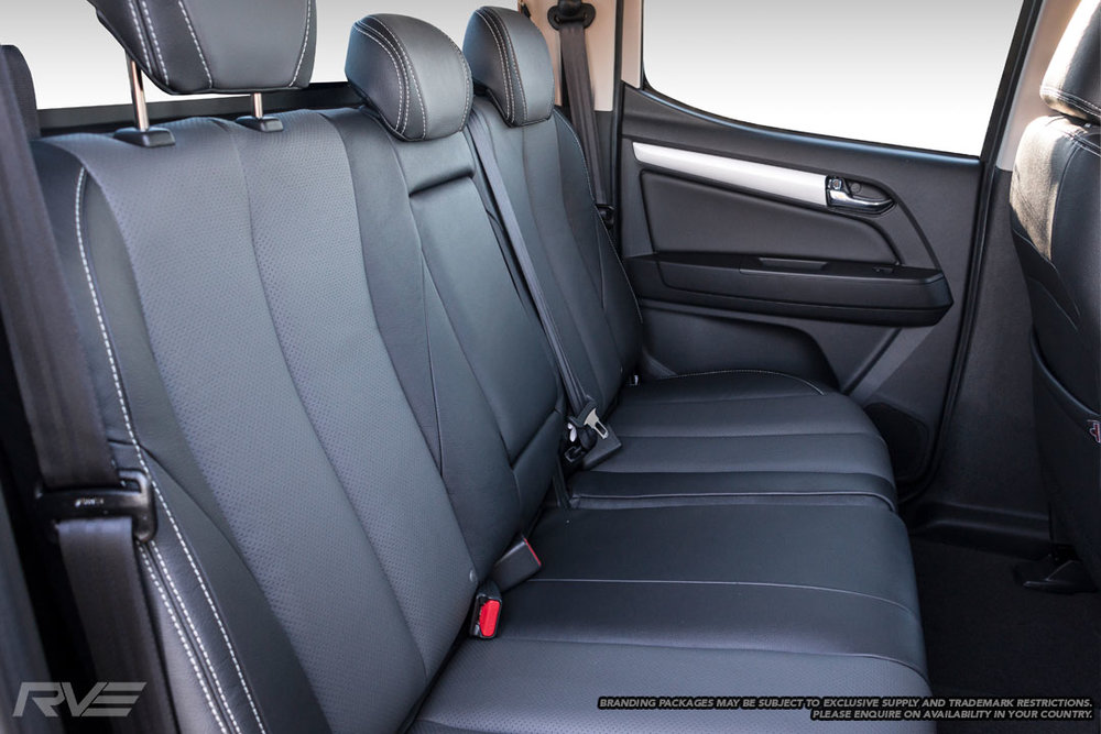 Upgraded 'Graphite' interior in black leather with perforated graphite inserts and silver stitching.