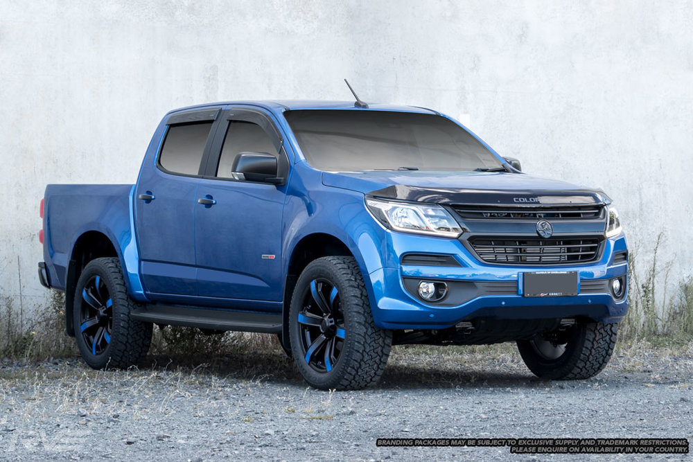 Vortex – Ute / 4x4 Spec / SUV  Size: 20 x 9  Colour: Satin black with centre cap and blue 'Wheel Art'