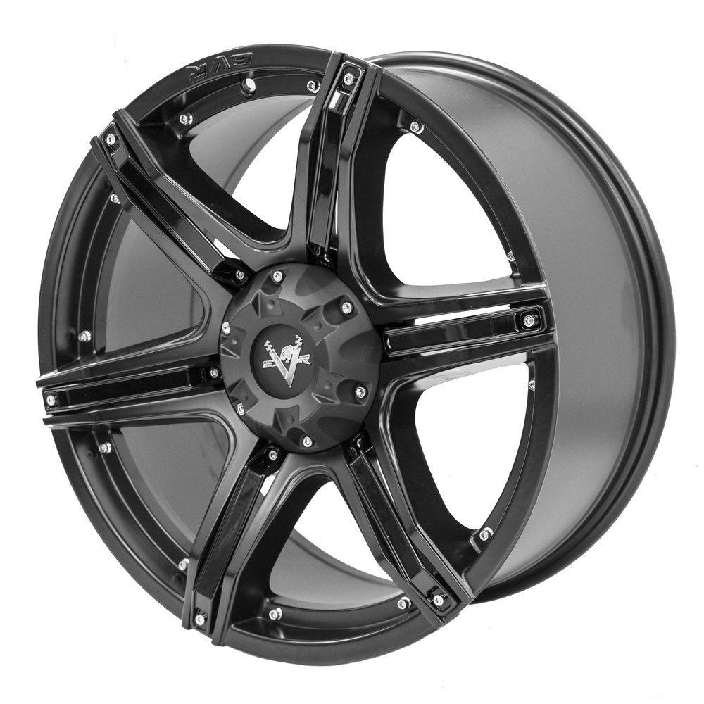 Fang – Ute / 4x4 Spec / SUV  Size: 20 x 9  Colour: Matte black, centre cap and black inserts