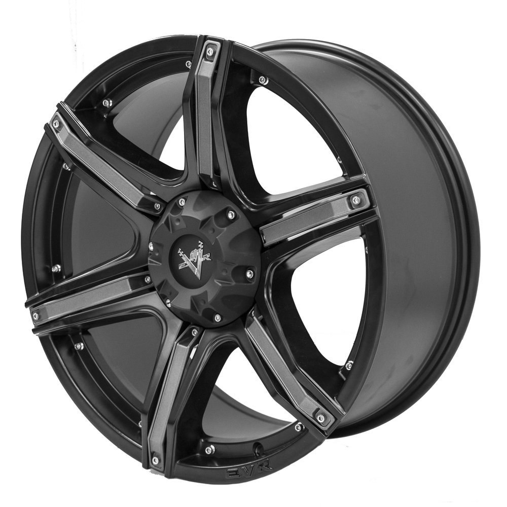 Fang – Ute / 4x4 Spec / SUV  Size: 20 x 9  Colour: Matte black, centre cap and charcoal inserts