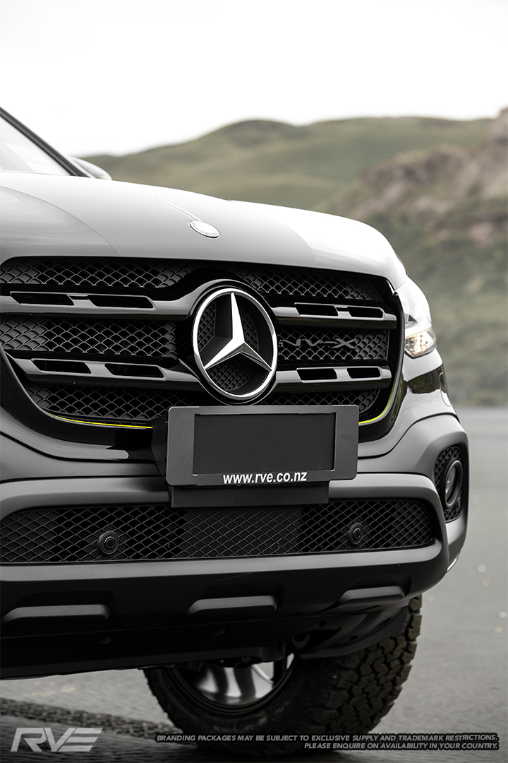 Blackout painted front grille