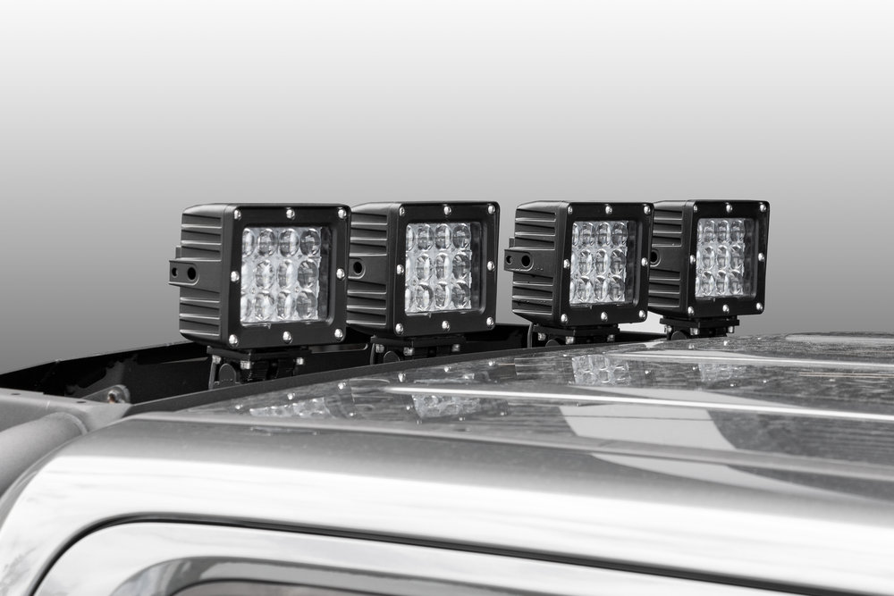 """ROC Armour sports bar with lights  6"""" driving lights  