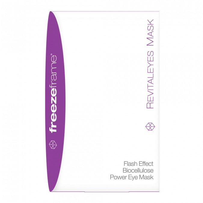 Freezeframe - Revitaleyes Mask $79.00A flash mask and power treatment in one. Delivers instant results plus clinical eye repair for deep wrinkles, chronic puffiness and serious dark circles.