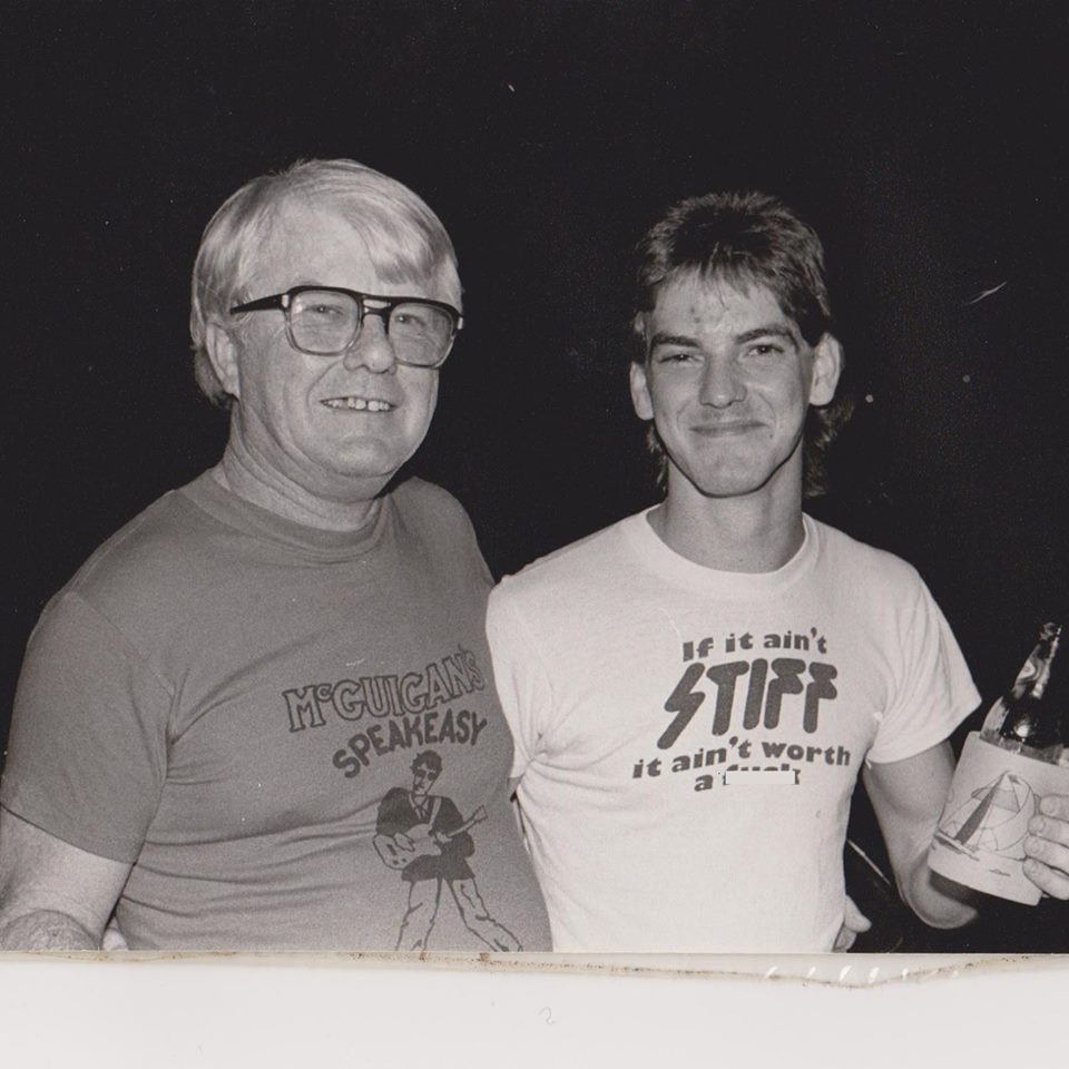 David McGuigan (right) and McGuigan Sr. circa 1980/81. Picture provided by David.