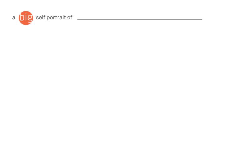 Self-Portrait Template Handout