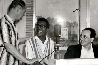 Tommy at the piano with Sammy Davis Jnr.