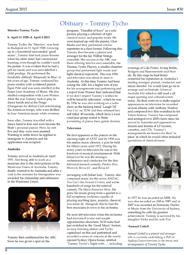 Tommy Tycho Obituary ( http://www.magainc.org.au/documents/MagaScene30.pdf )