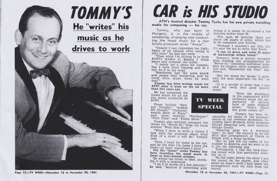 "'Tommy's Car is His Studio""  TV Week  November 18-24, 1961, p.12"