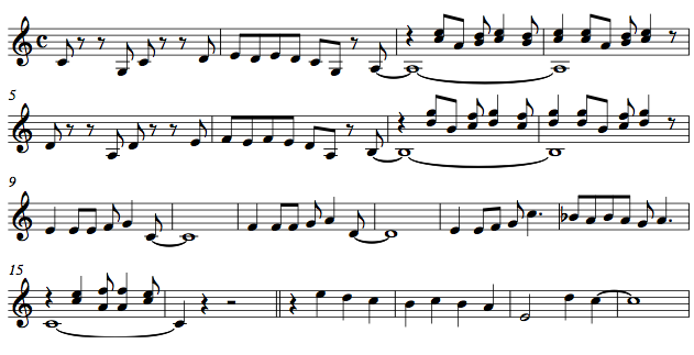The Lead sheet of 'Tom's Twist'